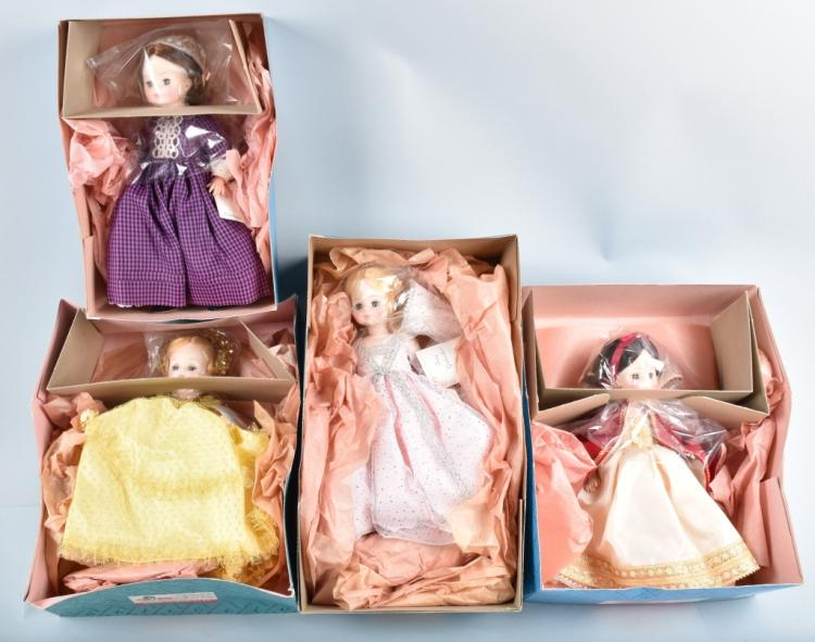 4-MADAM ALEXANDER DOLLS, BOXED