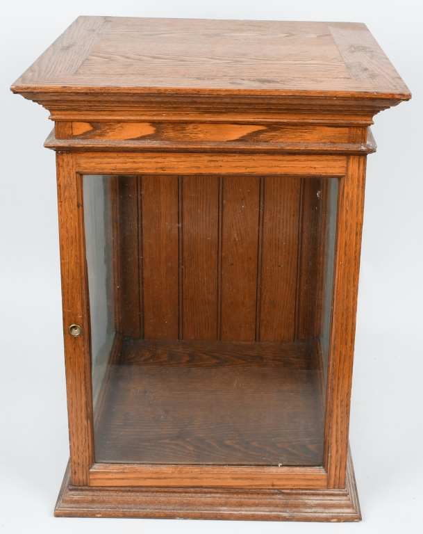 Antique Oak Country Store Counter Display Case