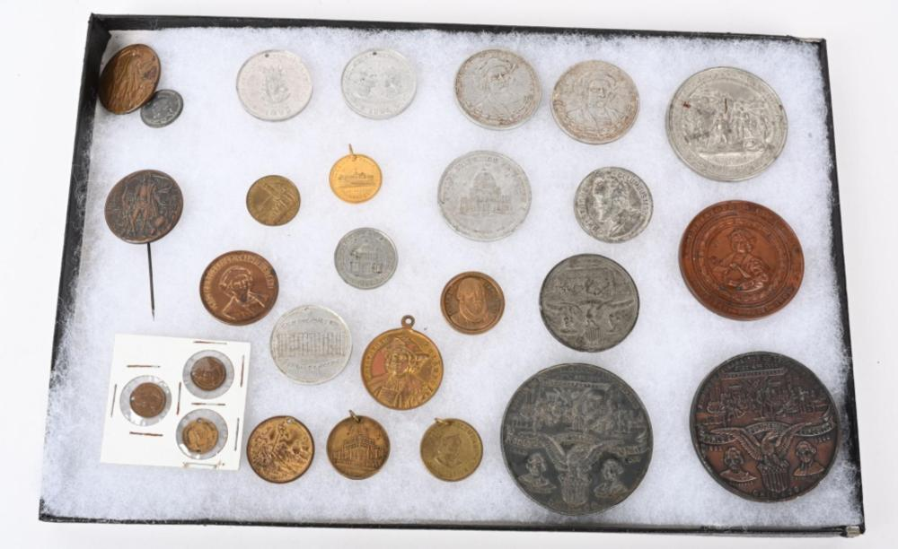 27 WORLDS COLUMBIAN EXPOSITION TOKENS & MEDALS