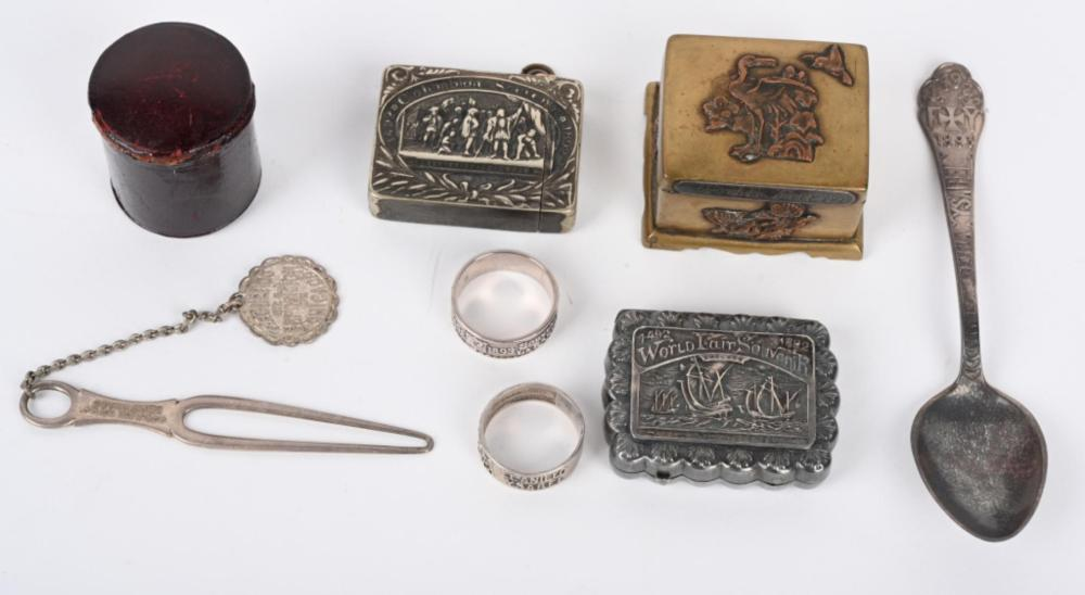 COLUMBIAN EXPOSITION STAMP BOXES & QUEEN ISABELLA