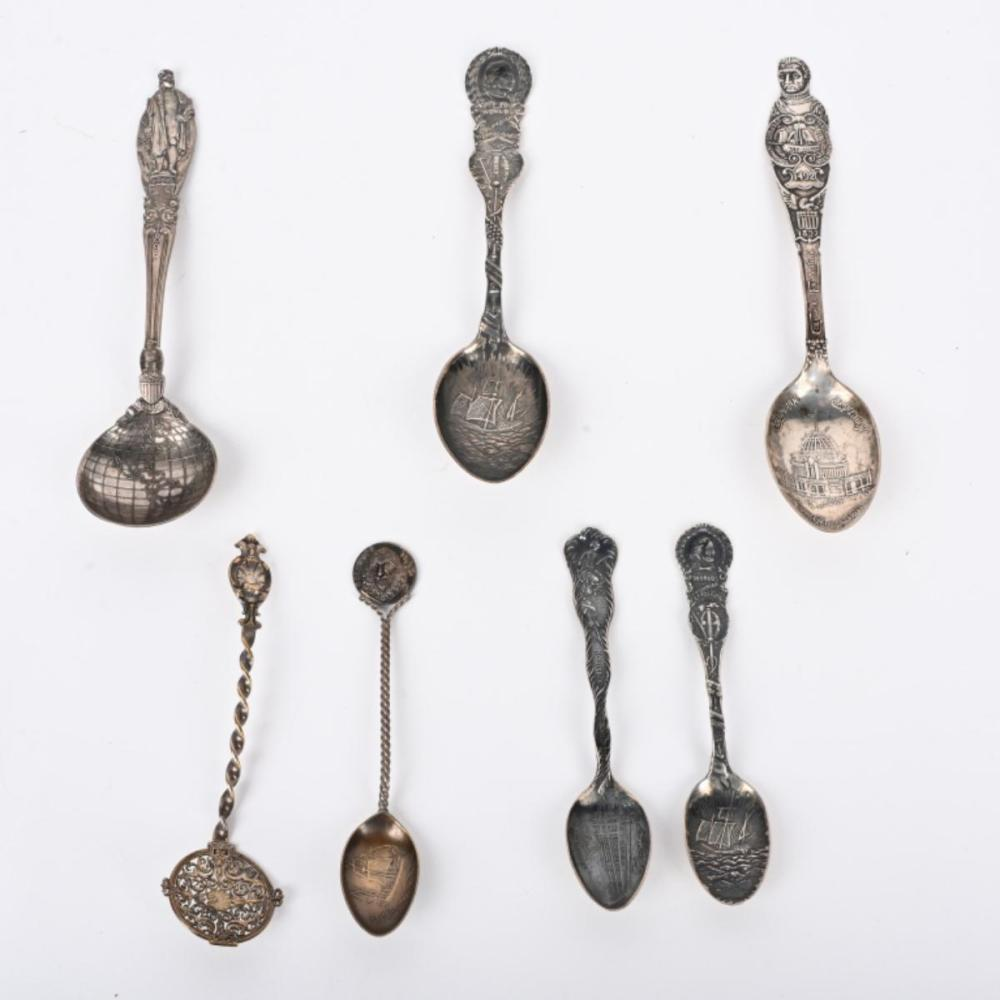 7 COLUMBIAN EXPOSITION STERLING SPOONS * TIFFANY