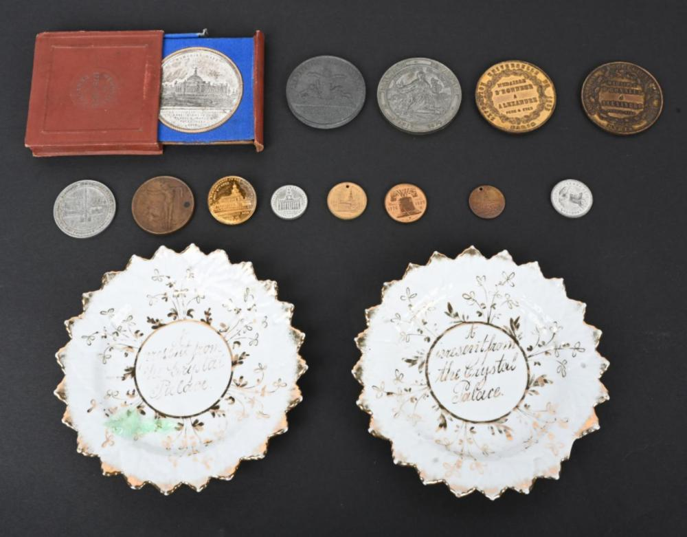 ASSORTED WORLD'S FAIR & EXPOSITION MEDALS &PLATES
