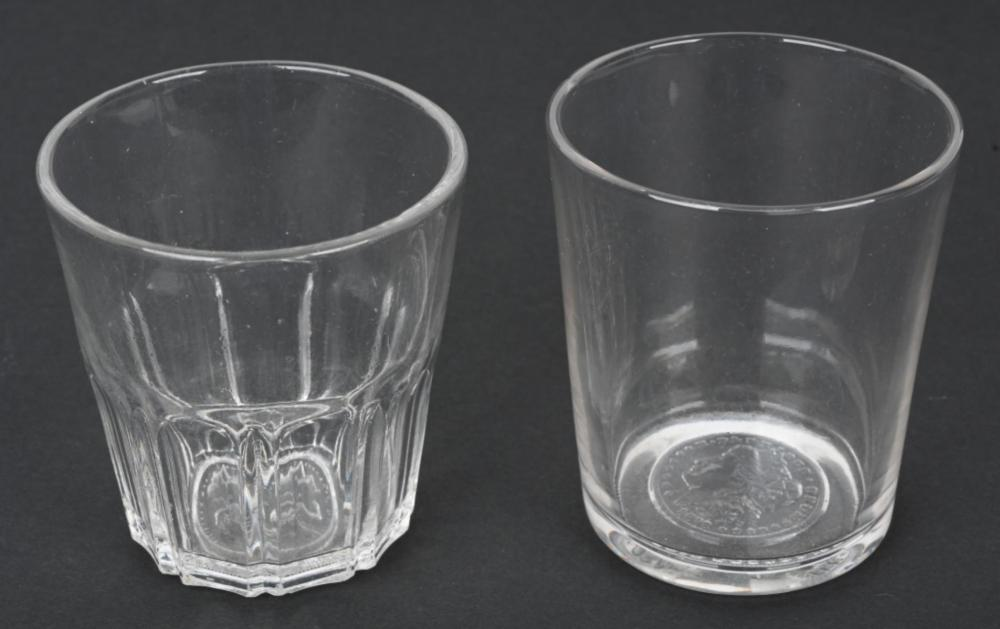 2 US COIN PATTERN TUMBLERS