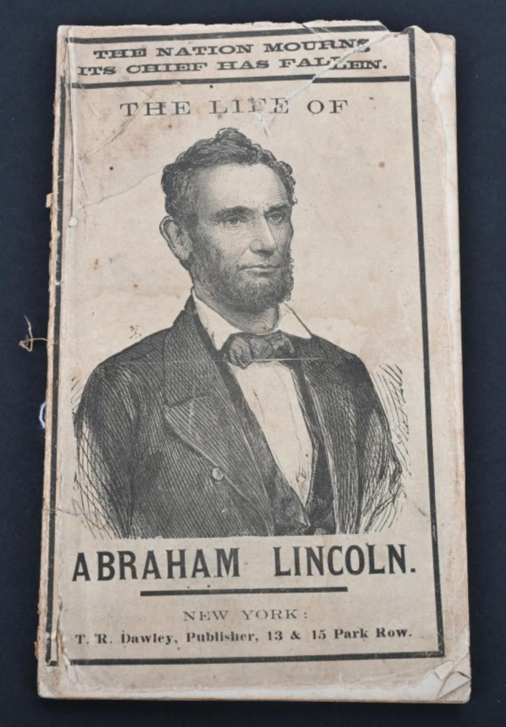 1865 THE LIFE OF ABRAHAM LINCOLN, ABOTT