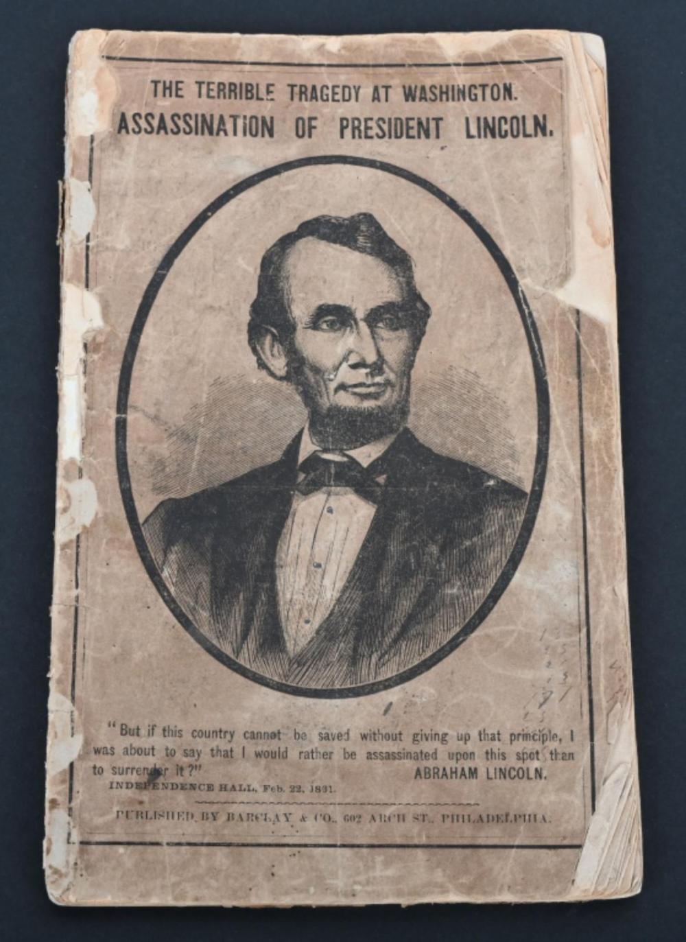 1865 ASSASSINATION OF PRESIDENT LINCOLN, BARCLAY