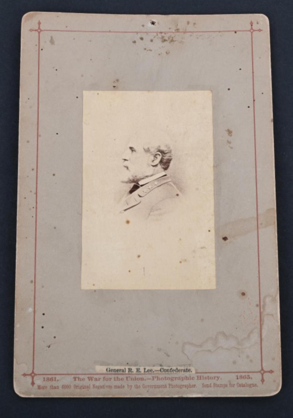CSA GENERAL ROBERT E. LEE CABINET CARD, J. TAYLOR