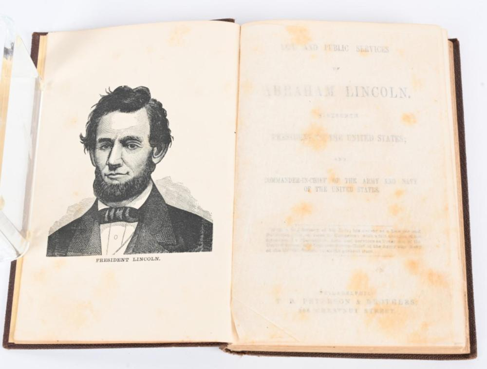 1864 LIFE AND PUBLIC SERVICES OF ABRAHAM LINCOLN