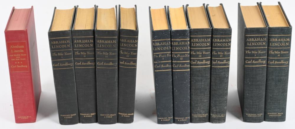 11-ABRAHAM LINCOLN BOOKS, CARL SANDBURG