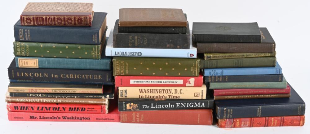 31-ABRAHAM LINCOLN BOOKS
