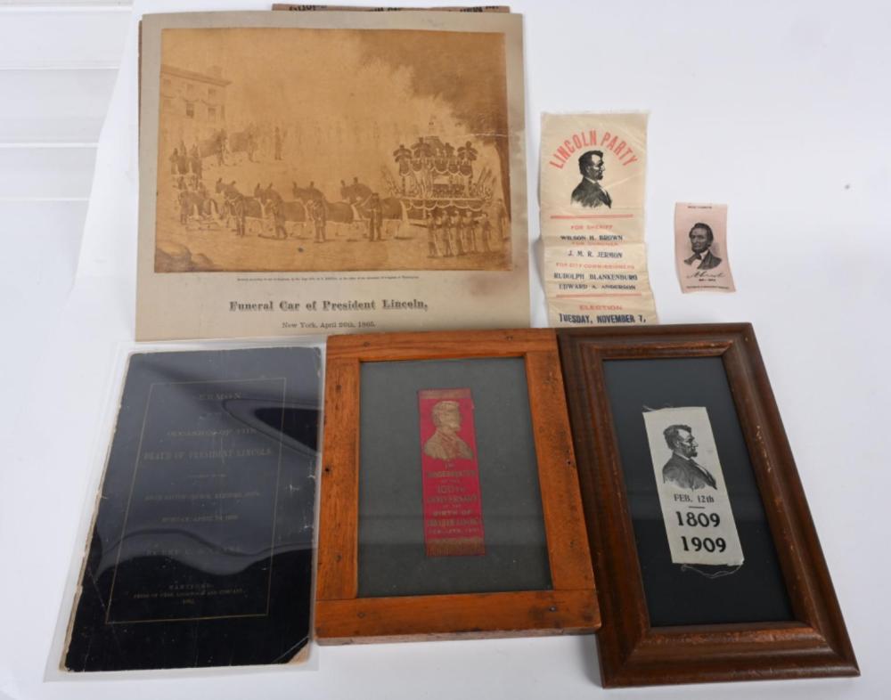 ABRAHAM LINCOLN EPHEMERA & MORE
