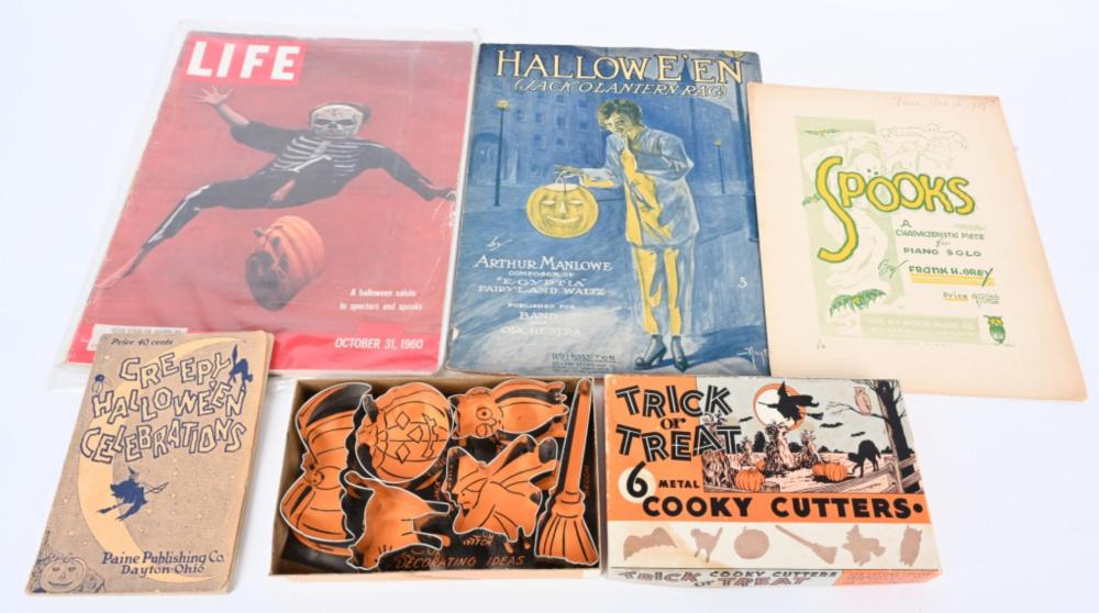 HALLOWEEN COOKIE CUTTERS, SHEET MUSIC, & MORE