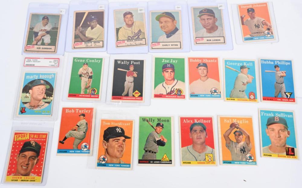 LOT (15) 1959 TOPPS & (5) DAN DEE CHIPS BASEBALL