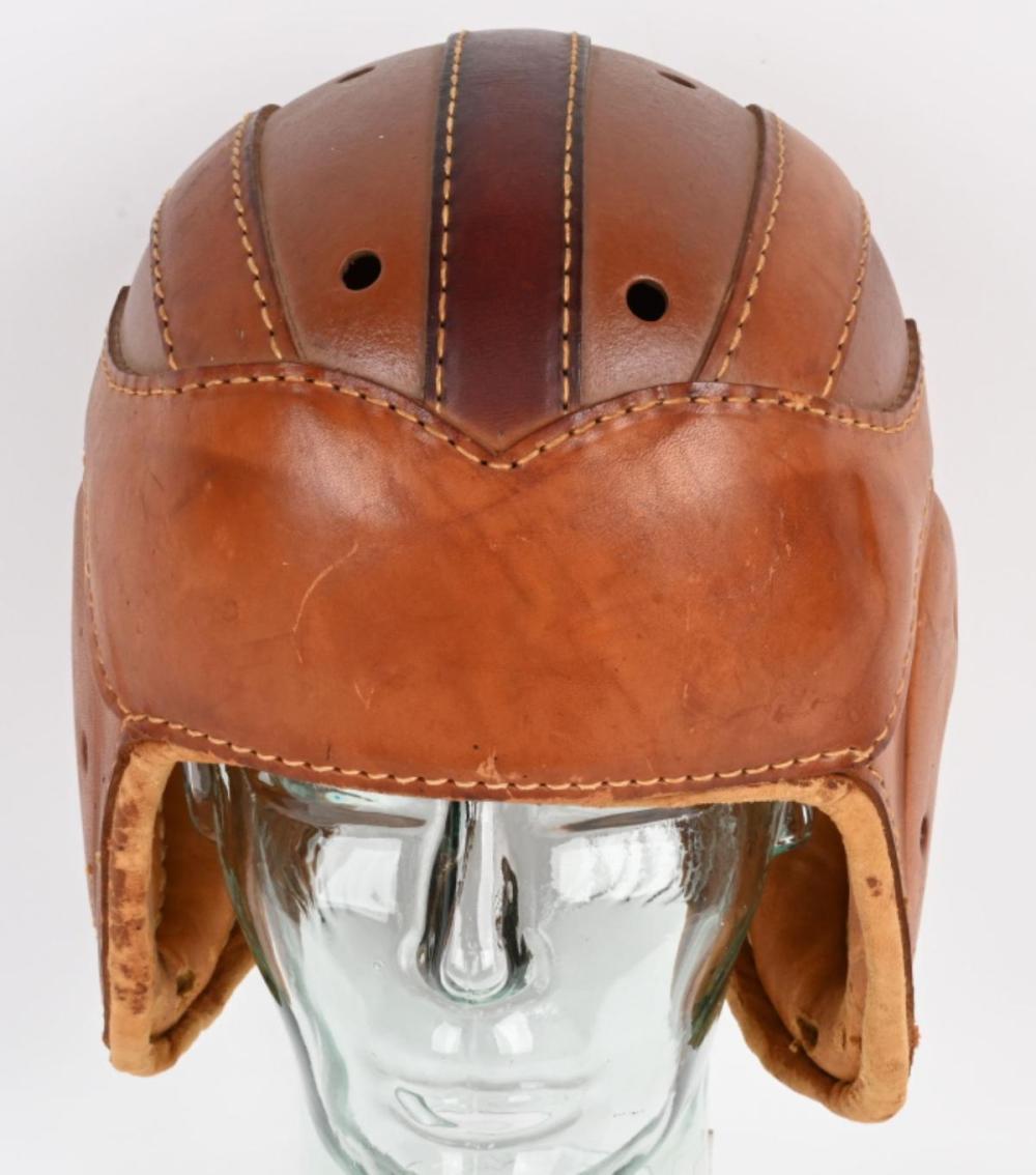 1920s PEERLESS LEATHER ADULT FOOTBALL HELMET