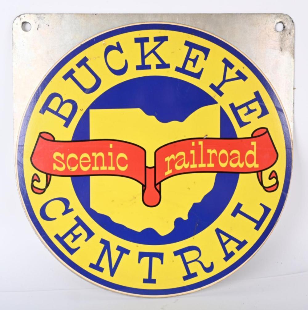 BUCKEYE CENTRAL RAILROAD CAR SIGN
