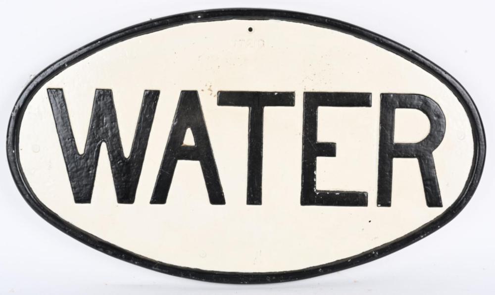 WATER CAST ALUMINUM SIGN