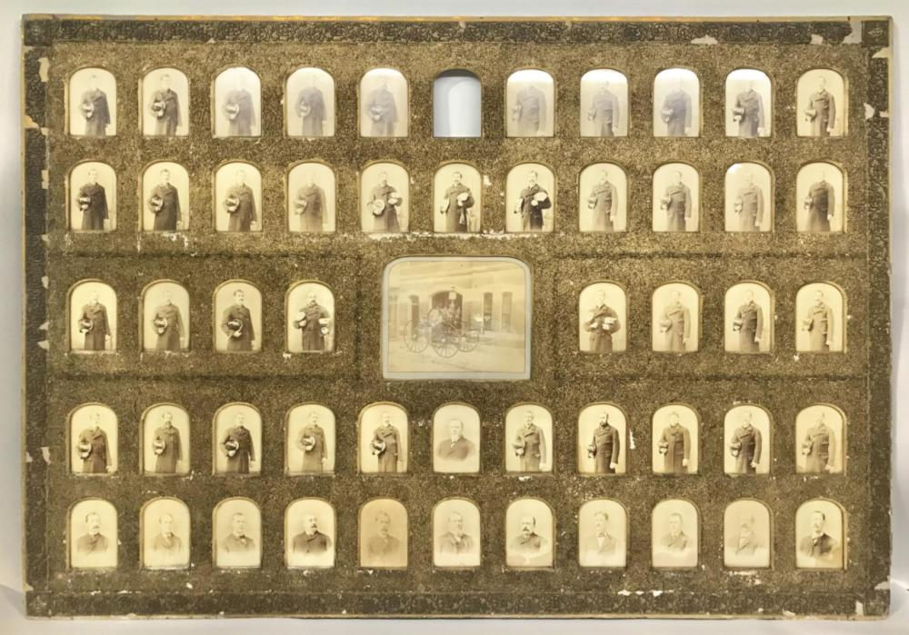 19TH CENT. CABINET PHOTOS COLUMBIA NY FIRE DEPT.