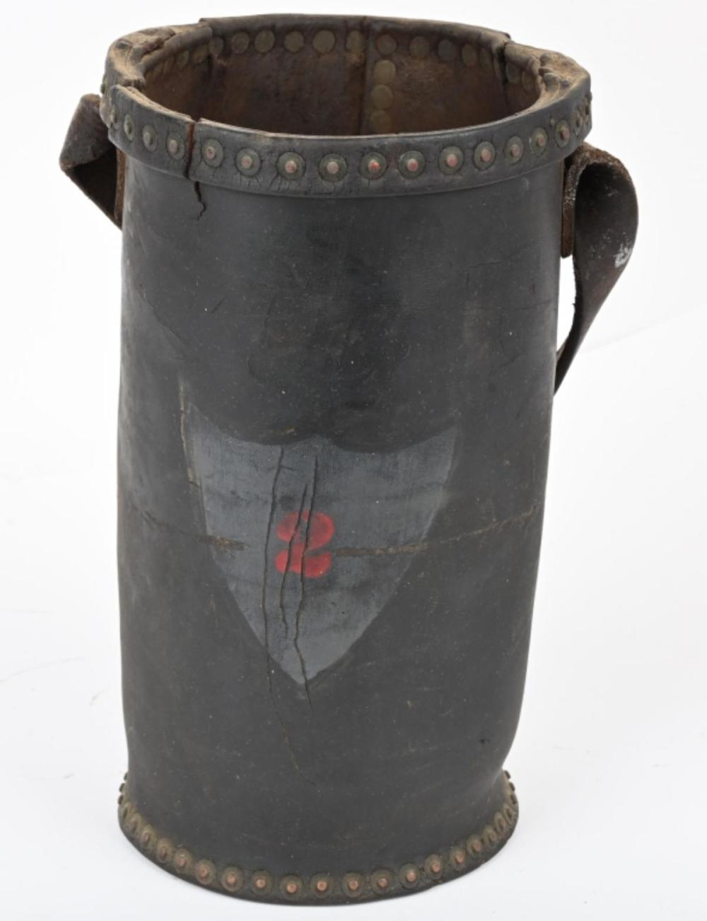19TH CENTURY LEATHER FIRE BUCKET