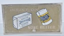 SHEFFORD CHEESE TIN ADVERTISING SIGN