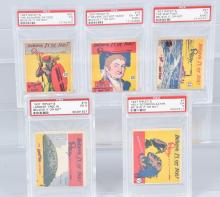 5-1937 RIPLEY'S BELIEVE OR NOT, TRADE CARDS, PSA