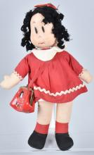 1950's LITTLE LULU CLOTH DOLL and PURSE