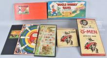 UNCLE WIGGILY & G-MEN BOARD GAMES