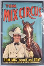 TOM MIX CIRCUS POSTER with TONY