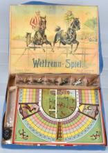 FRENCH WITTRENN-SPIEL STEEPLE CHASE GAME, BOXED