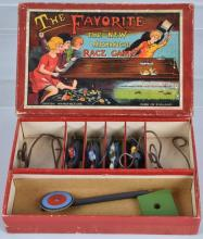 THE FAVORITE MECHANICAL HORSE RACE GAME, BOXED