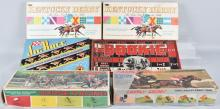 5-VINTAGE HORSE RACE GAMES and PUZZLE, BOXED