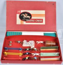 FRENCH STEEPLE CHASE HORSE RACE GAME, BOXED