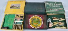 3-VINTAGE HORSE RACE GAMES, BOXED