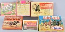 6-VINTAGE HORSE RACE GAMES, BOXED