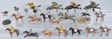 HUGE LOT of HORSE RACE GAME HORSES and JOCKEYS