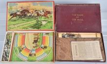 2-VINTAGE GERMAN HORSE RACE GAMES, BOXED