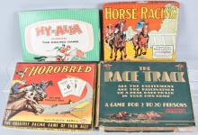 4-VINTAGE HORSE RACE GAMES, BOXED