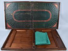 2-LARGE EARLY WOOD HORSE RACE GAMES