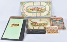 LARGE VINTAGE HORSE GAME LOT