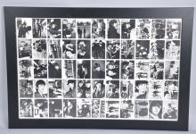 FRAMED UNCUT SHEET OF BEATLES PICTURES