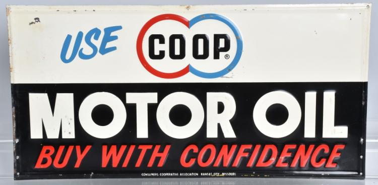 Use Co Op Motor Oil Tin Sign
