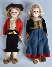 BISQUE BOY and GIRL DOLL, VINTAGE