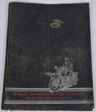1938 HARLEY DAVIDSON SERVICE SCHOOL FOLDER SIGNED