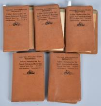 5- 1966 INDIAN MOTORCYCLE DEALER GIVEAWAY PADS