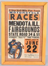 1930s FLAT TRACK MOTORCYCLE RACING POSTER