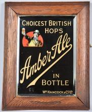 VINTAGE AMBER ALE ADVERTISING MIRROR