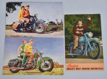 3- EARLY MOTORCYCLE POST CARDS