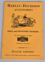 1930 HARLY DAVIDSON ACCESSORIES CATALOG