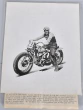 LEO ANTHONY HARLEY DAVIDSON RACING MOTORCYCLE PIC