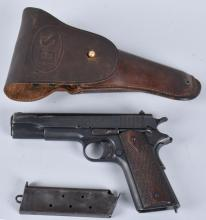 COLT 1911 / 1918 .45 PISTOL with HOLSTER ARMY