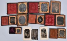 LOT of TINTYPES and CASES
