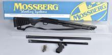 MOSSBERG 500, 12 GA. SHOTGUN, 3 BARRELS, BOXED